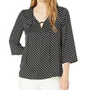 NWT BCBG Polkadot blouse